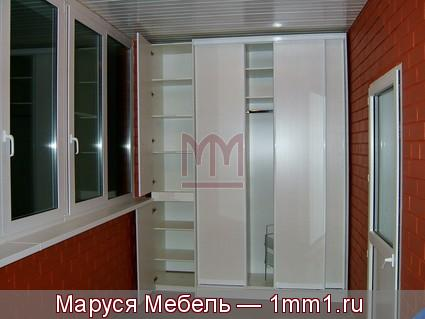 "Шкаф-купе на балкон - фабрика ""маруся мебель""."