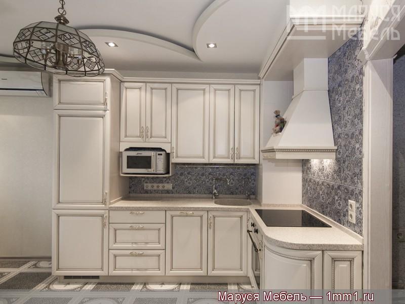 белая угловая кухня фабрика маруся мебель